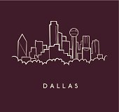 Dallas Skyline Sketch