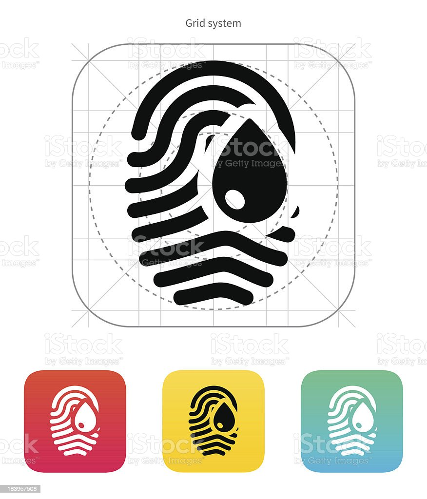 Damage fingerprint icon. royalty-free stock vector art