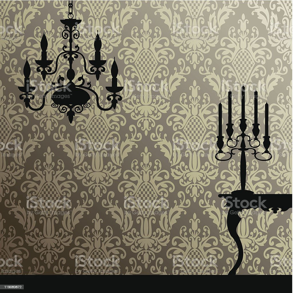 Damask and interior royalty-free stock vector art