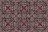 Damask background pattern design floral from decorative ornament elements