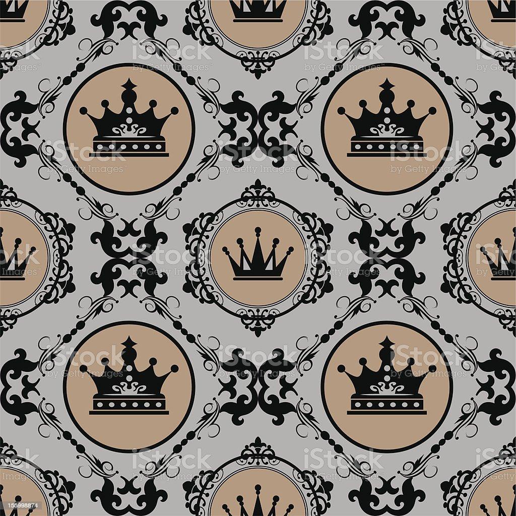 damask decorative wallpaper for walls. royalty-free stock vector art