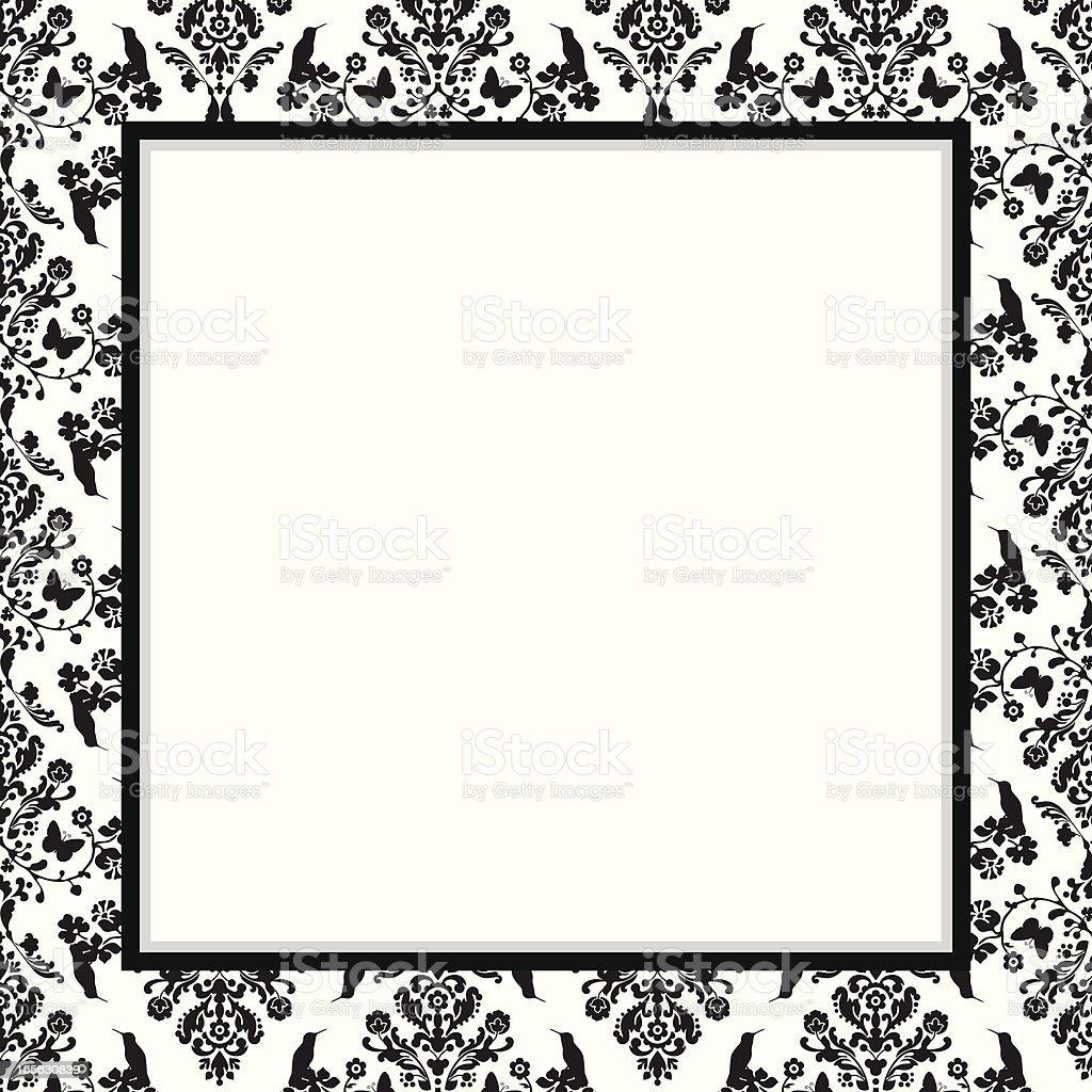 damask frame invitation design royalty-free stock vector art