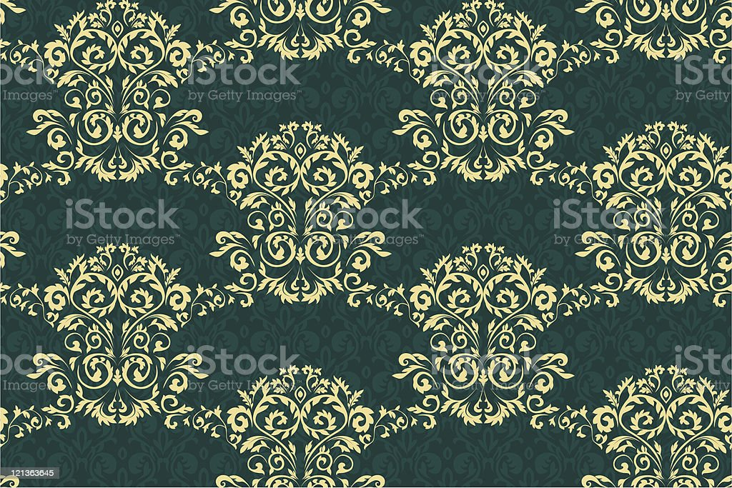 Damask pattern royalty-free stock vector art