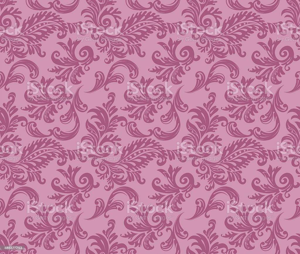 Damask pattern vector art illustration