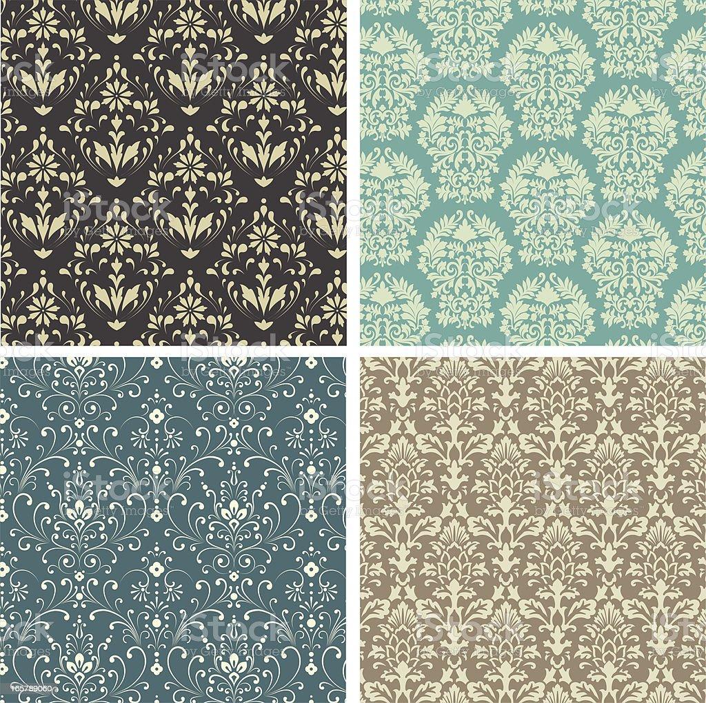 Damask Patterns royalty-free stock vector art