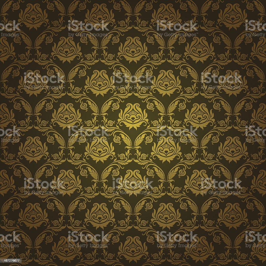 Damask seamless floral pattern. vector art illustration