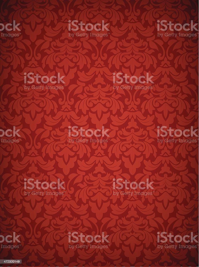 Damask Seamless Pattern - Only Two Credits! vector art illustration