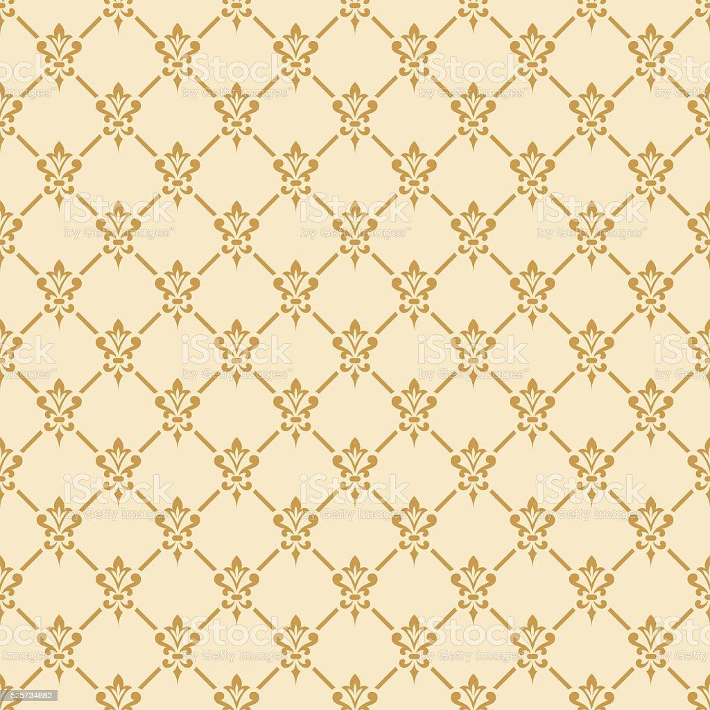Damask seamless pattern. vector art illustration