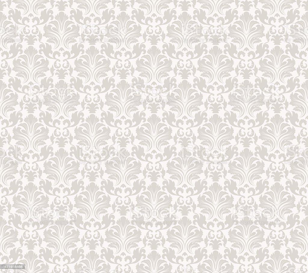 Damask seamless vector pattern vector art illustration
