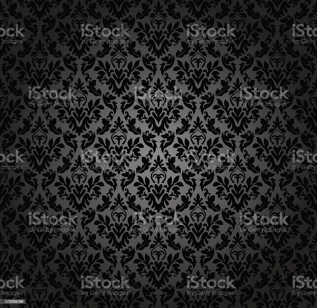 Damask seamless vector pattern vector art illustration