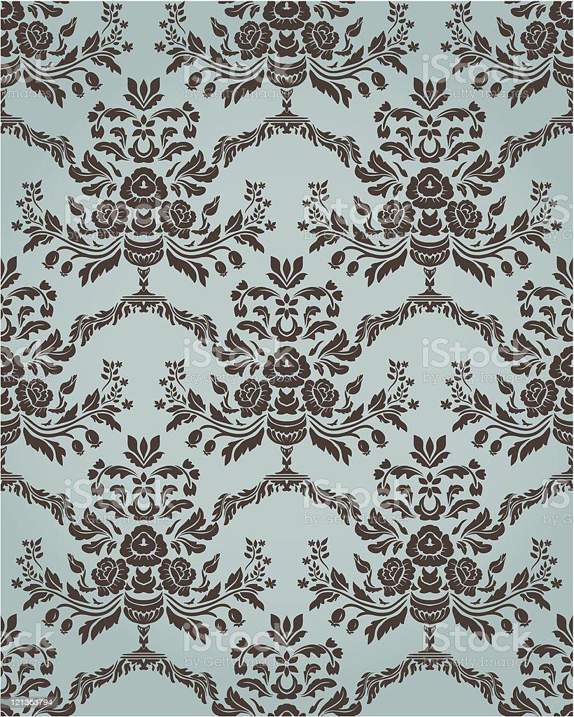 Damask seamless wallpaper royalty-free stock vector art