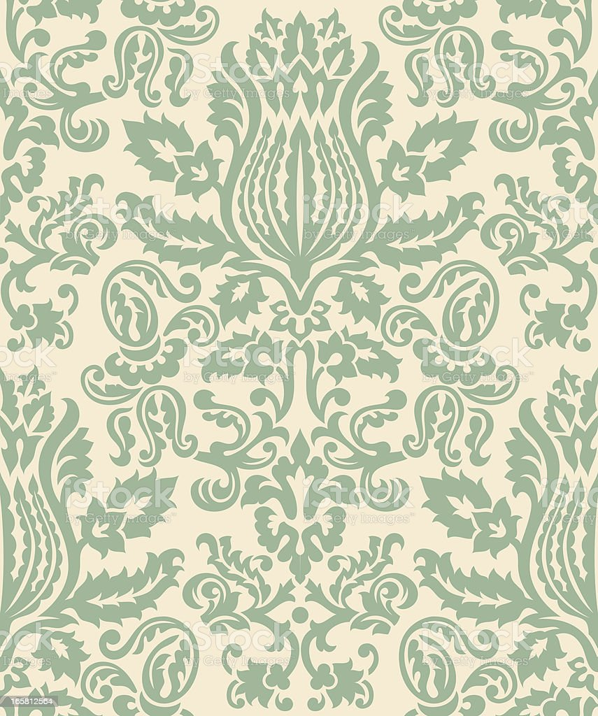 Damask Wallpaper Pattern royalty-free stock vector art