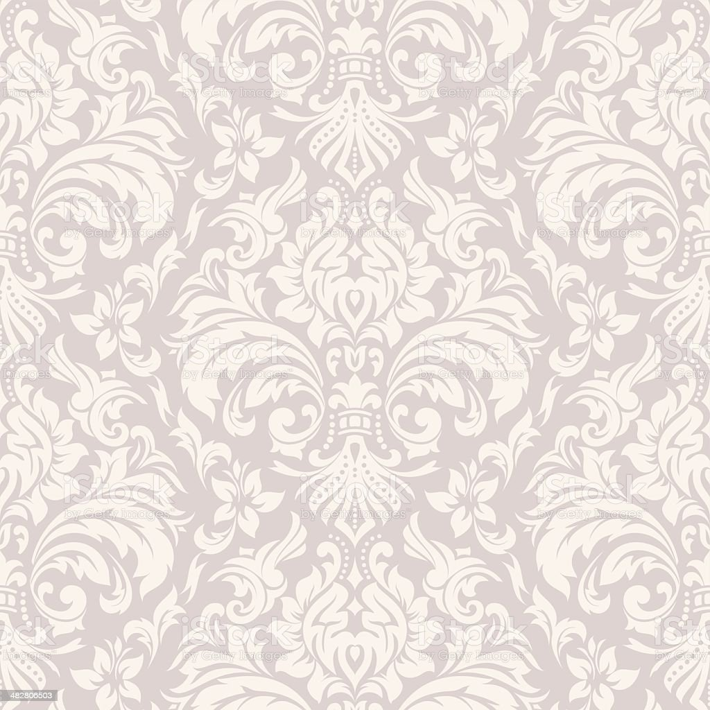 Damask Wallpaper Pattern vector art illustration