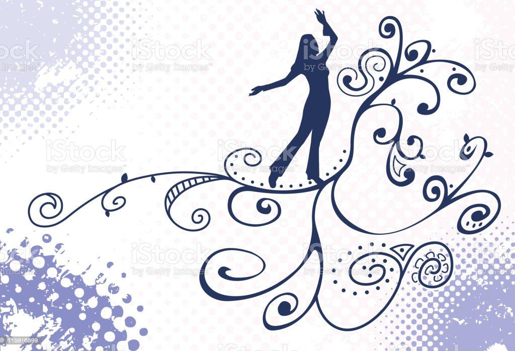 Dance Flow royalty-free stock vector art
