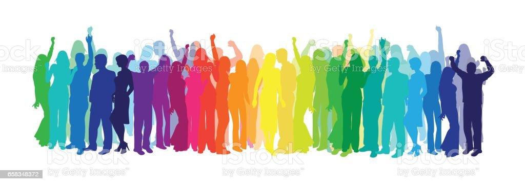 Dance In Colors vector art illustration