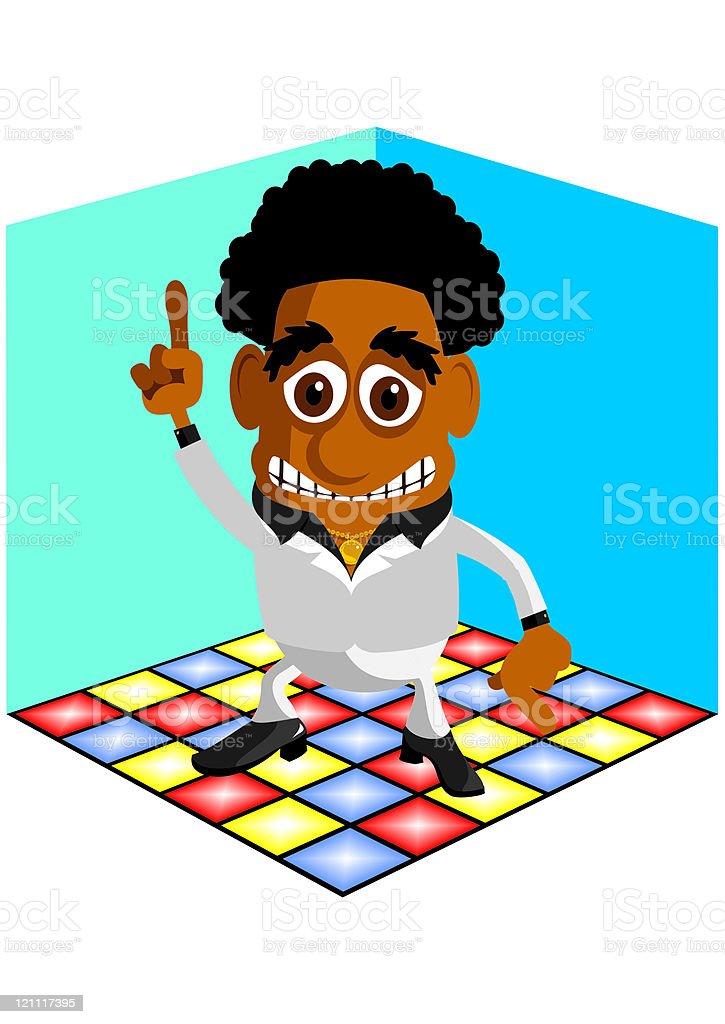 Dance King royalty-free stock vector art