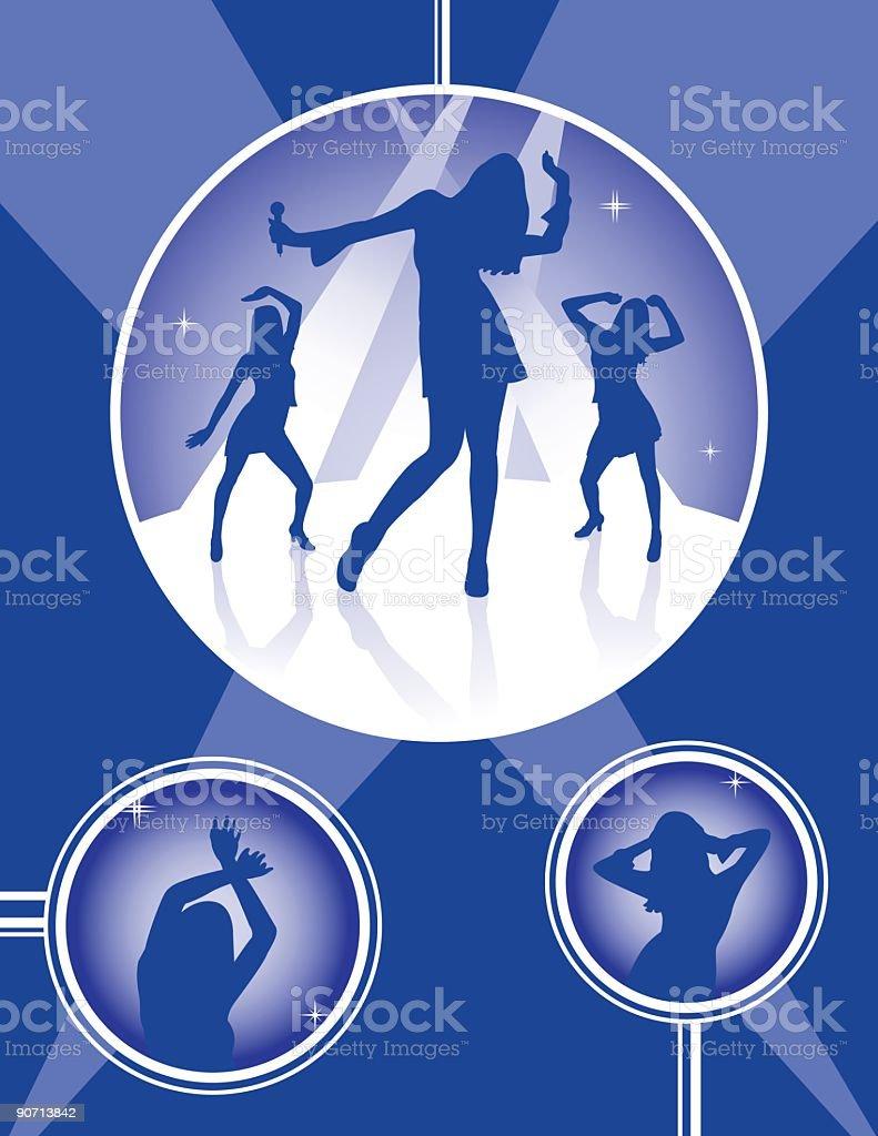 Dance Night vector art illustration