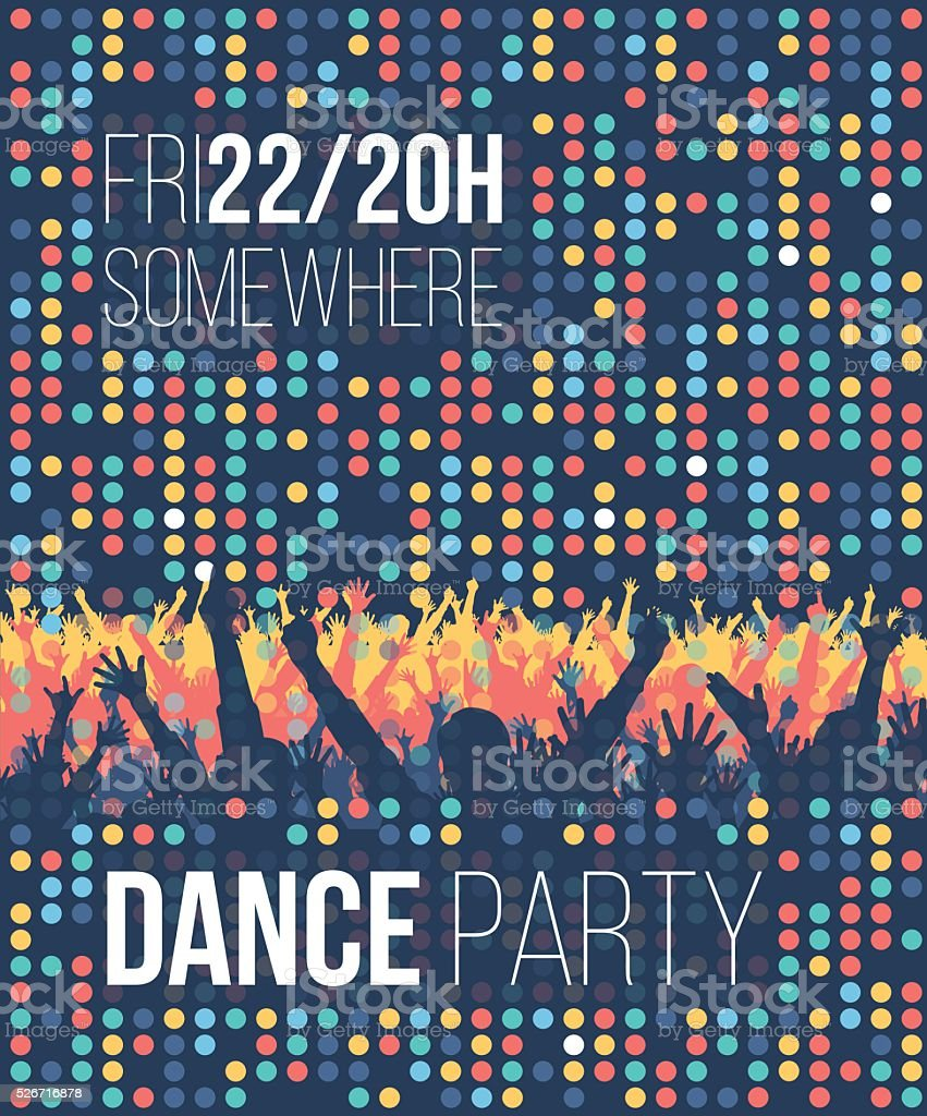 Dance Party Poster vector art illustration