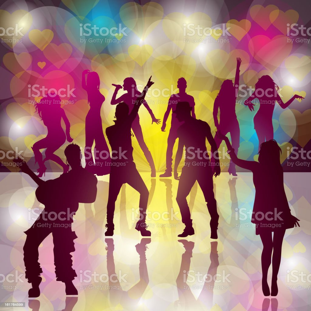 Dance Party royalty-free stock vector art
