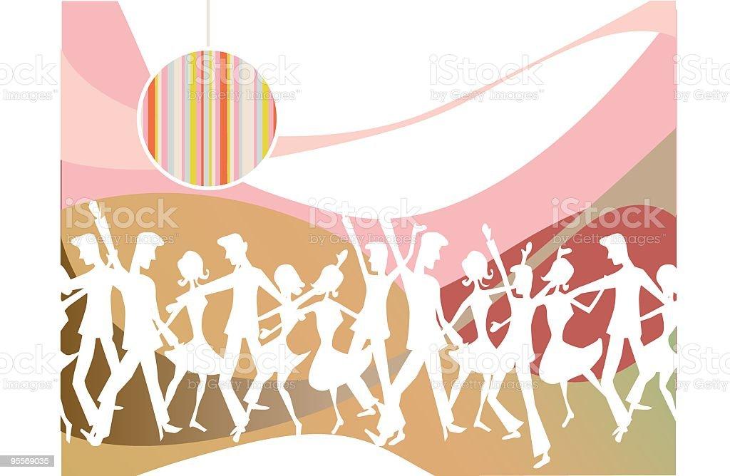 Dance Revolution vector art illustration