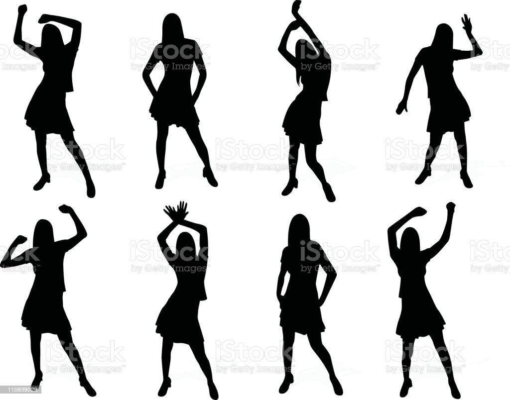 Dance set series royalty-free stock vector art