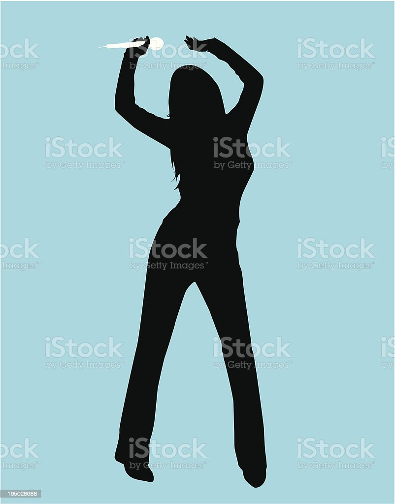 Dancer Singer ( Vector ) vector art illustration