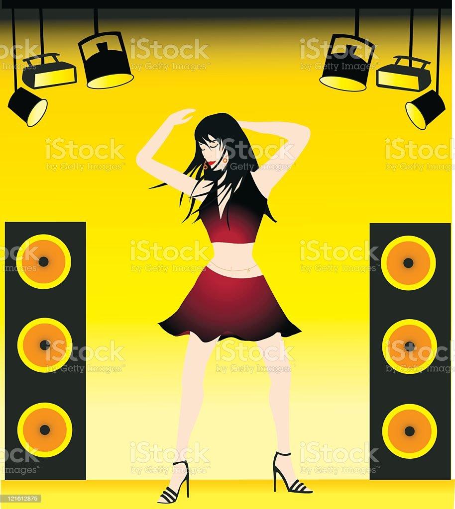 Dancer royalty-free stock vector art