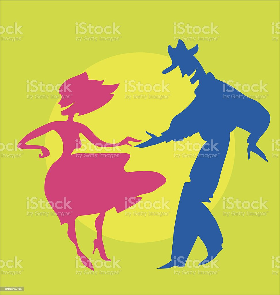 dancers silhouette royalty-free stock vector art