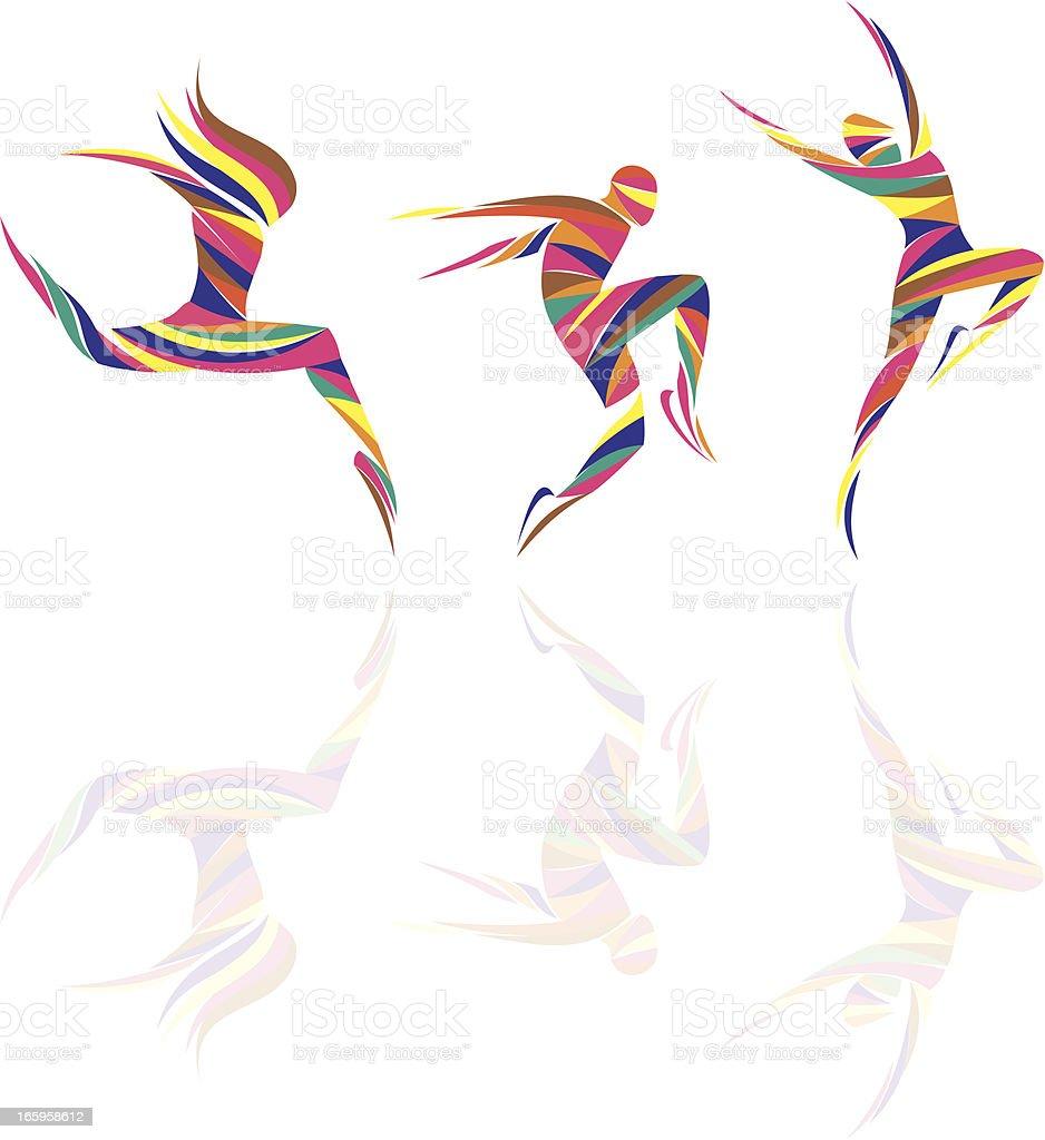 dancers royalty-free stock vector art