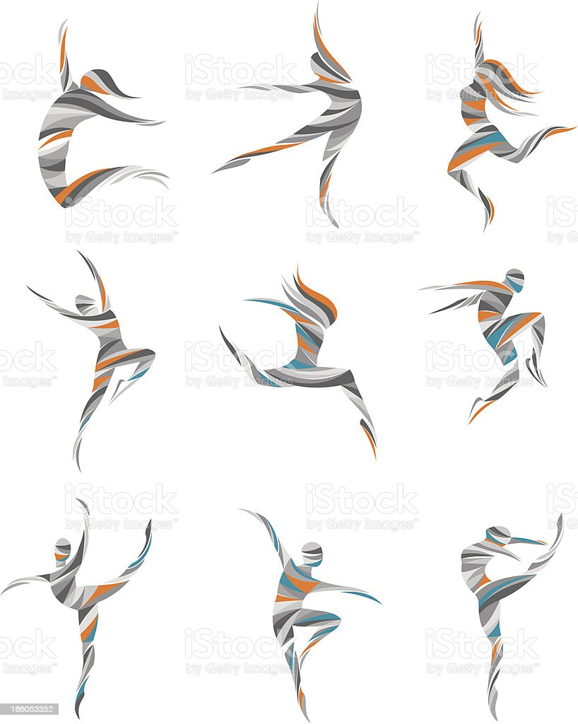 dancers vector art illustration