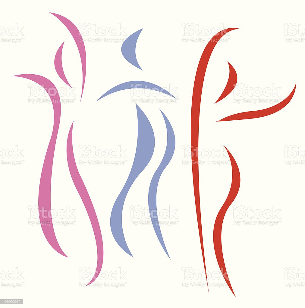 dancing abstract silhouettes royalty-free stock vector art