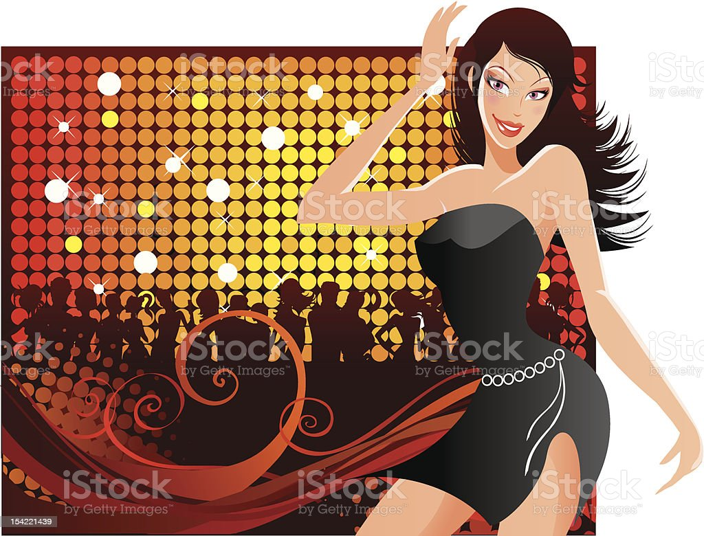 Dancing background 1 royalty-free stock vector art