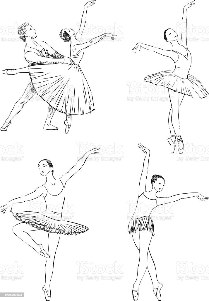 dancing ballet royalty-free stock vector art