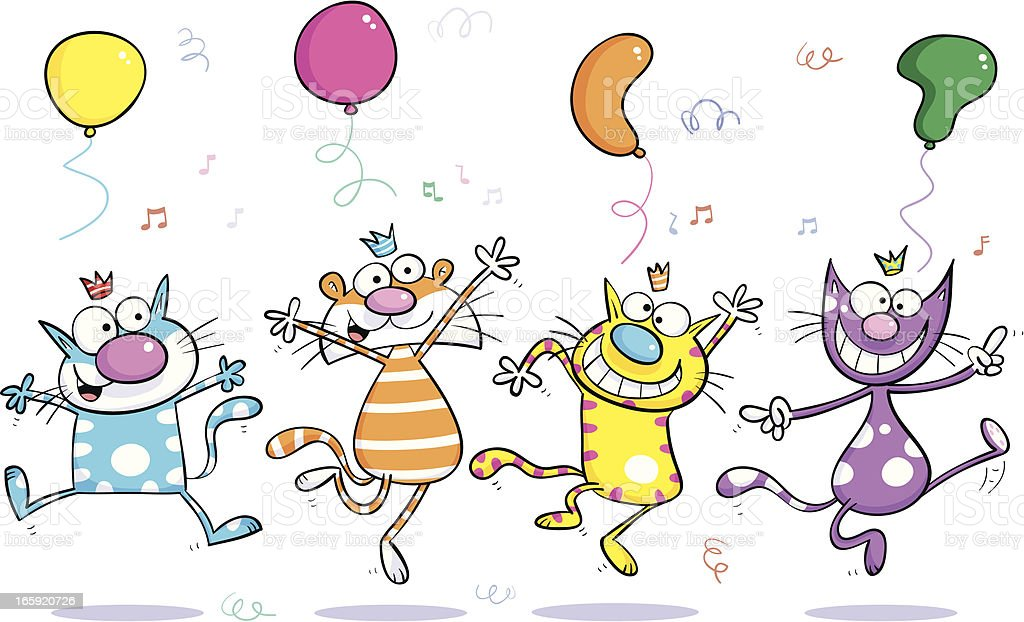 Dancing Cats royalty-free stock vector art