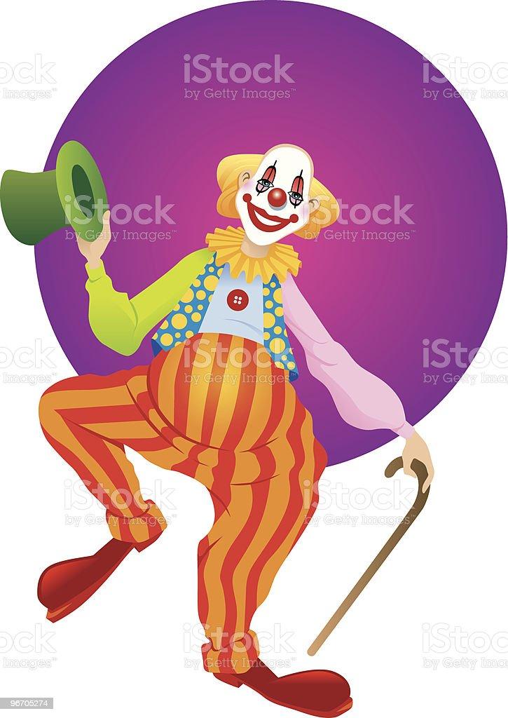 Dancing Clown royalty-free stock vector art