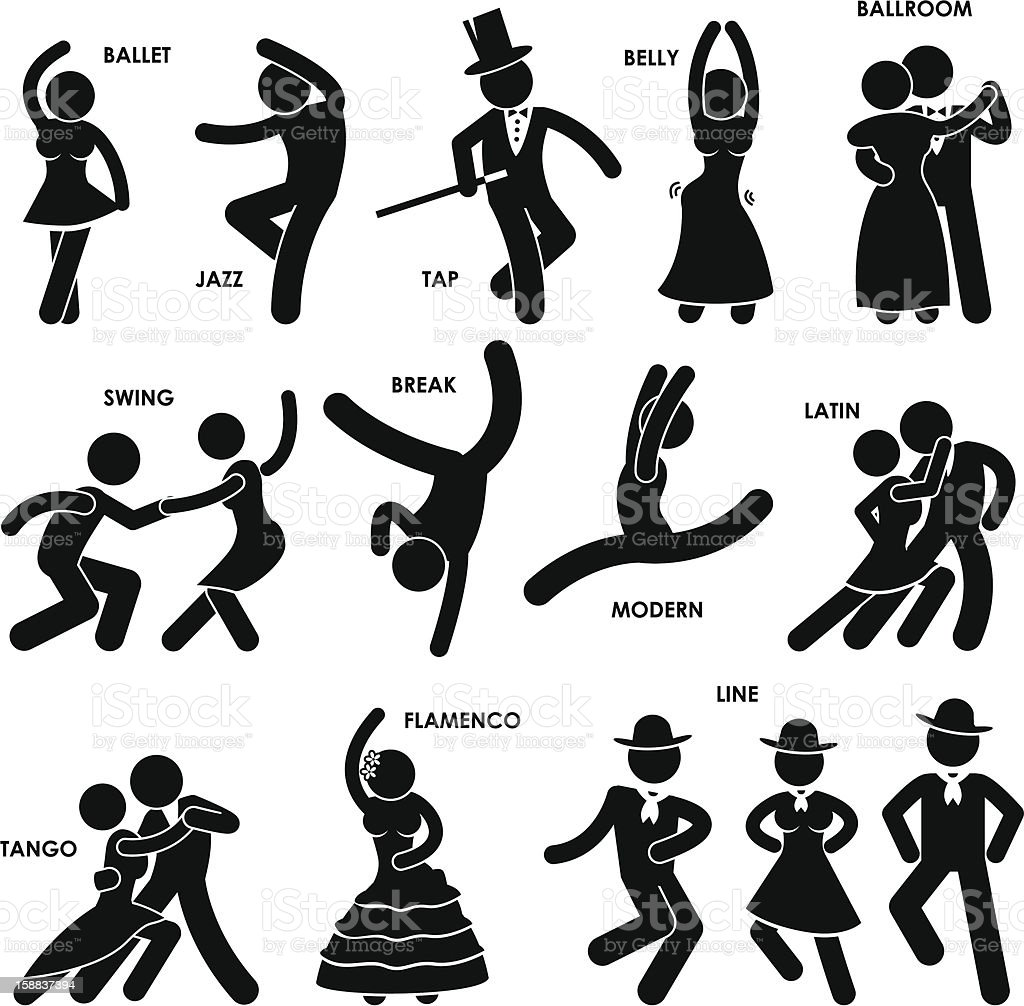 Dancing Dancer Pictogram royalty-free stock vector art