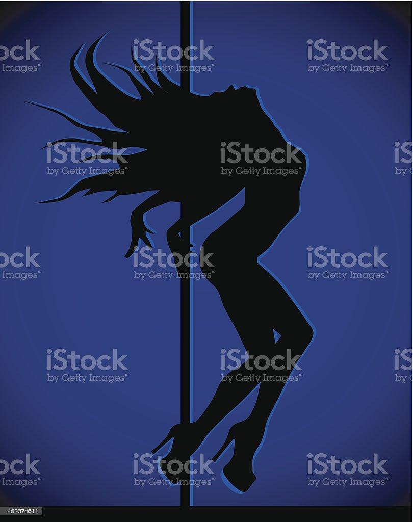 Dancing girl royalty-free stock vector art