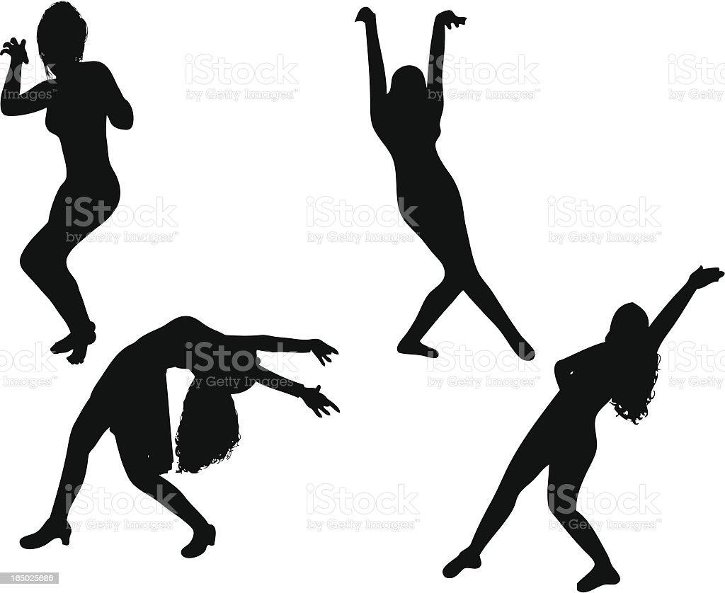 Dancing Girls royalty-free stock vector art