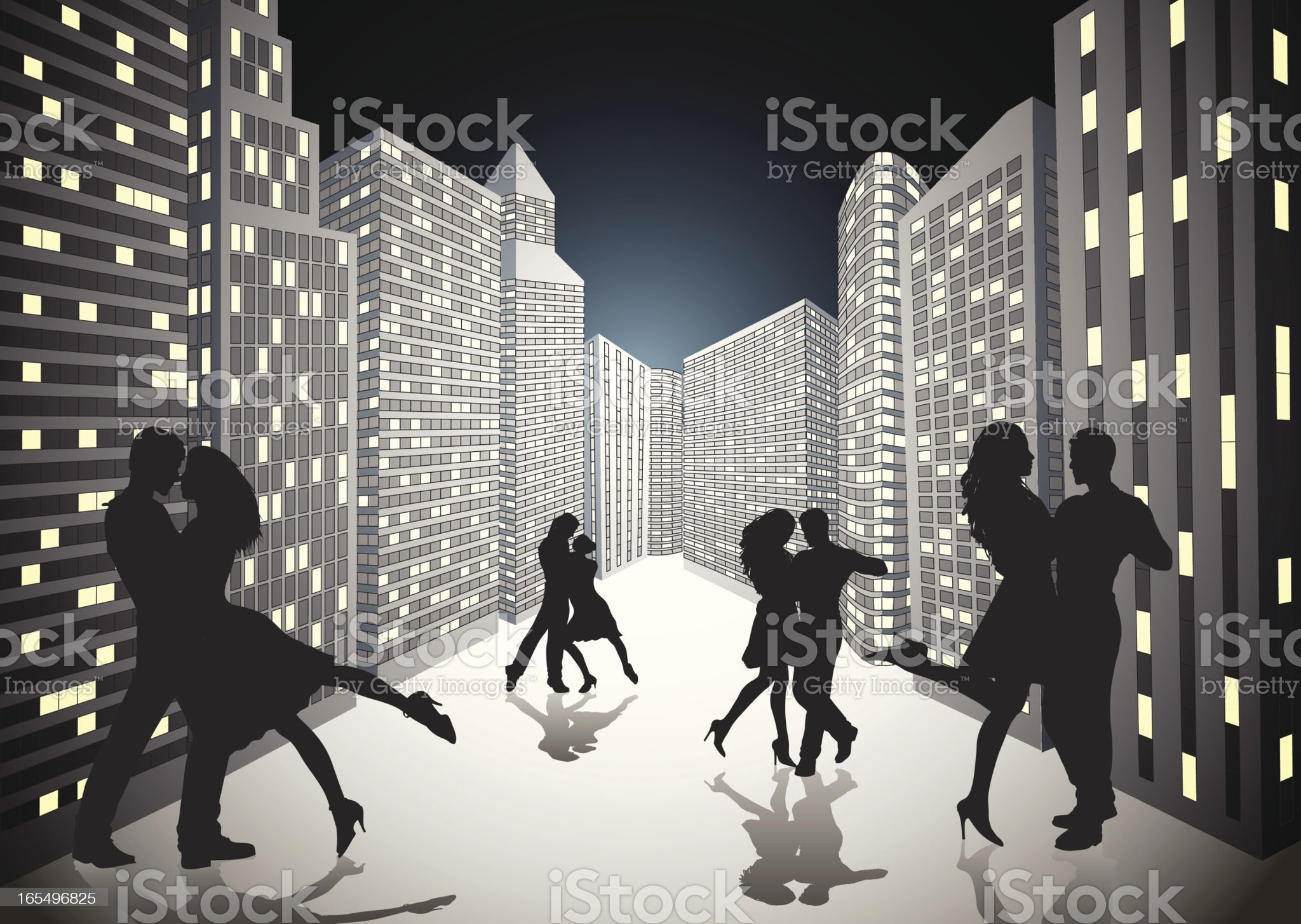 Dancing in the streets. royalty-free stock vector art