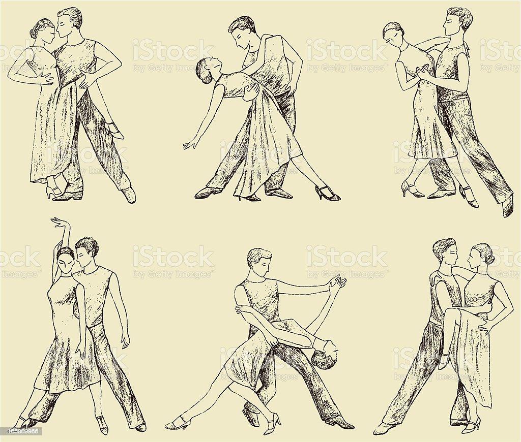 dancing pair royalty-free stock vector art