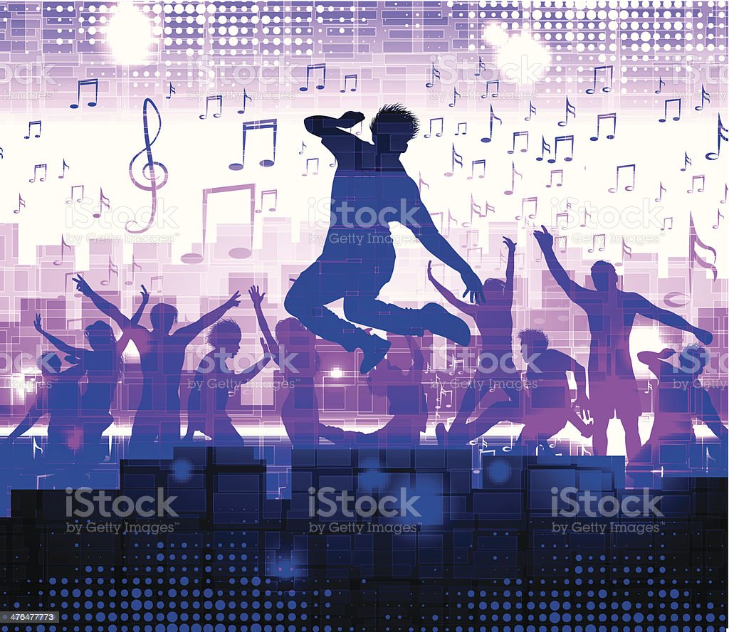 Dancing people royalty-free stock vector art