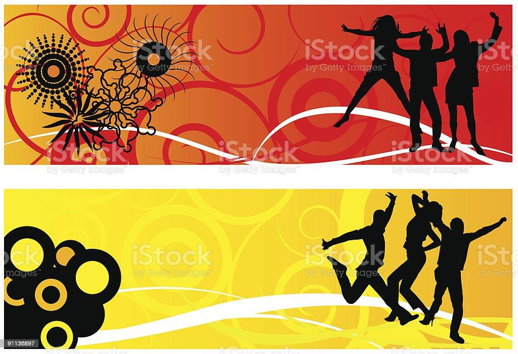 dancing people royalty-free stock vector art