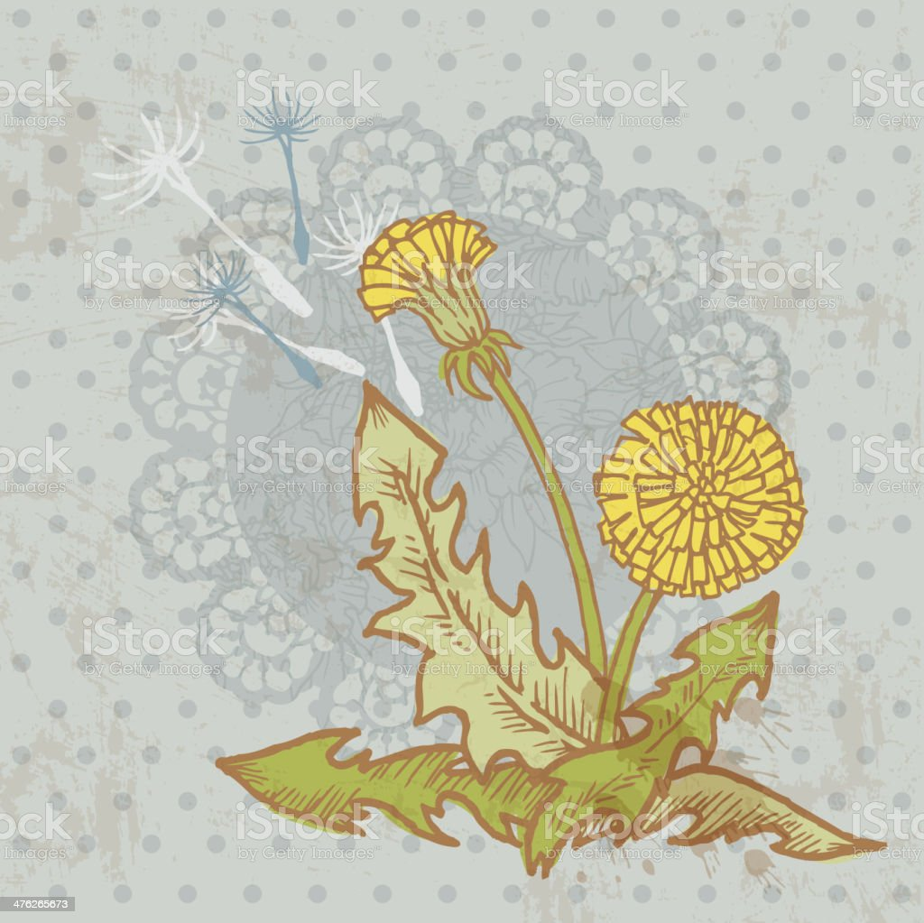 Dandelion and Lace Background royalty-free stock vector art