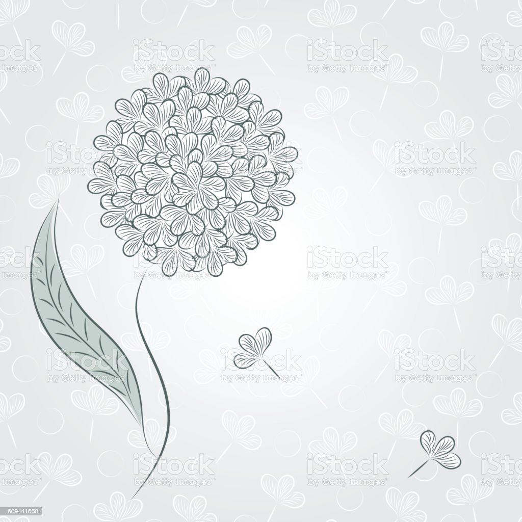 Dandelion Flower vector art illustration