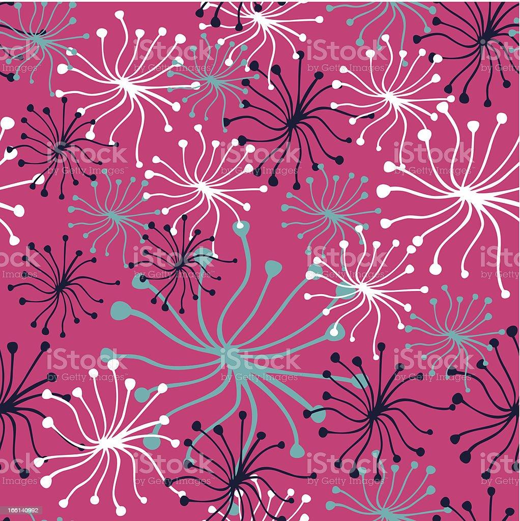 Dandelion pink pattern royalty-free stock vector art