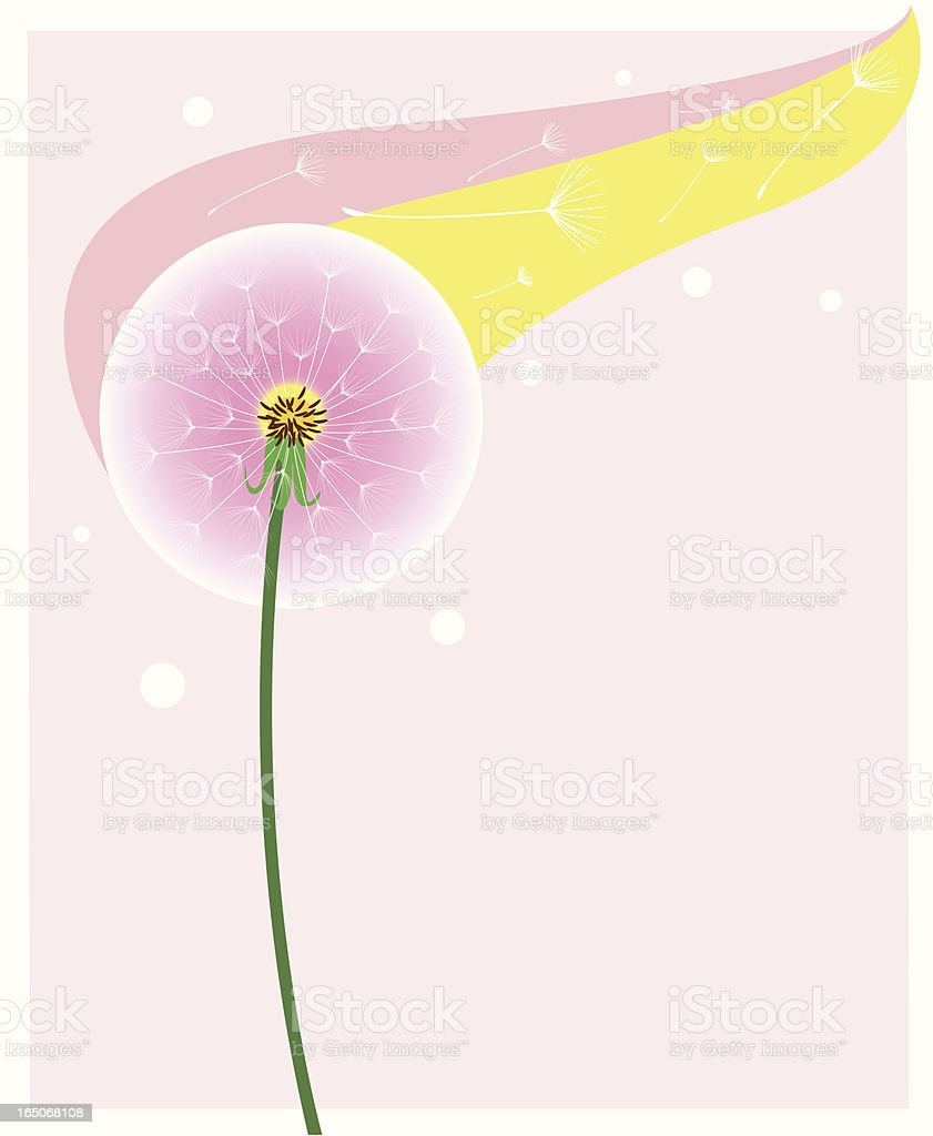 Dandelion Seeds royalty-free stock vector art