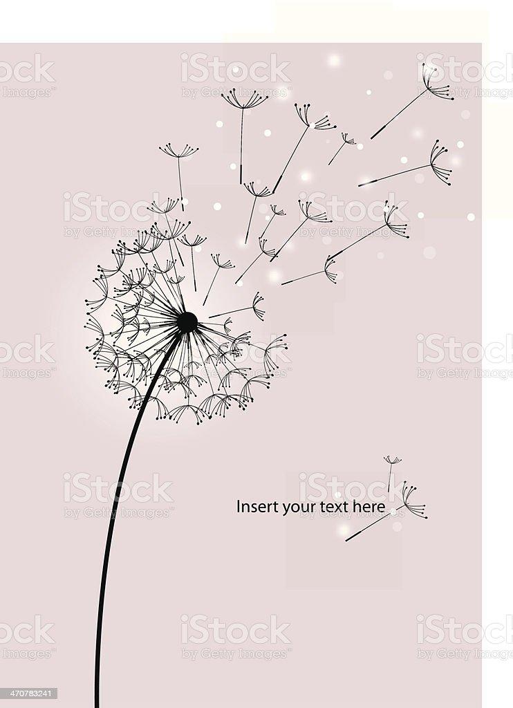 dandelion silhouette vector art illustration