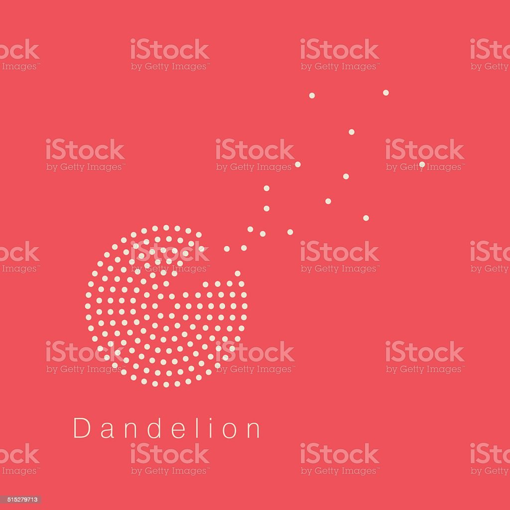 Dandelion vector logo design template vector art illustration