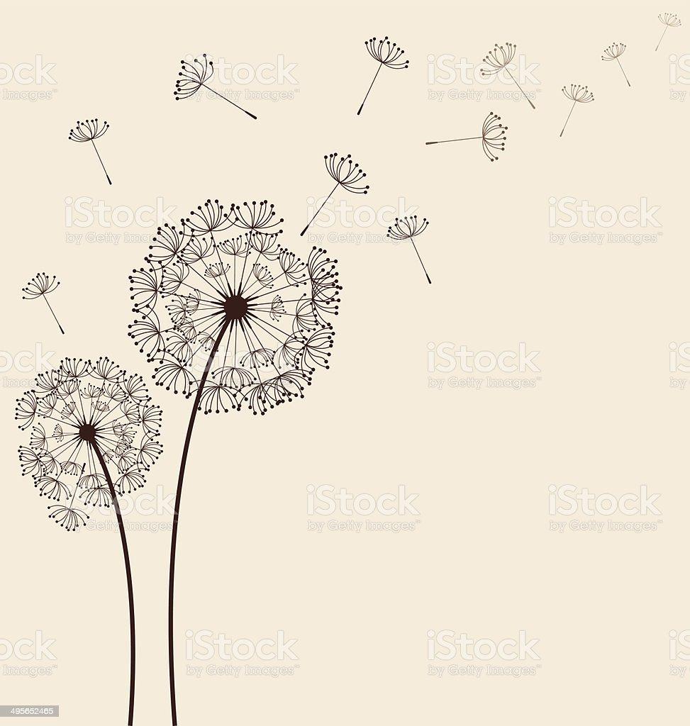 Dandelions background vector vector art illustration