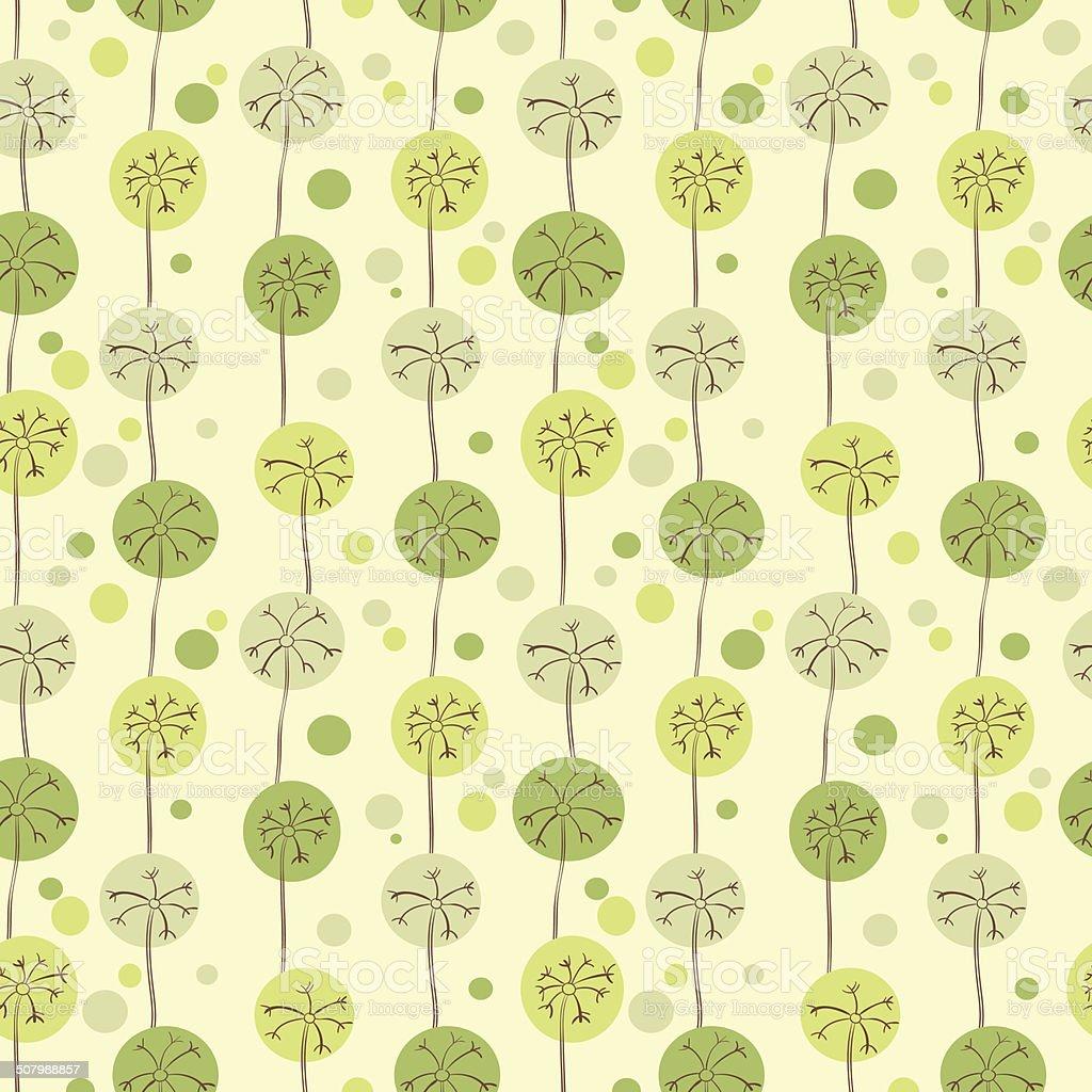 Dandelions seamless pattern royalty-free stock vector art